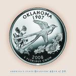 """Oklahoma_portrait coin_46"" by Quarterama"