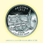"""Arizona_portrait coin_48"" by Quarterama"