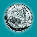 """Yellowstone, Wyoming_portrait coin_NP02"" by Quarterama"