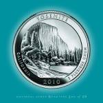 """Yosemite, California_portrait coin_NP03"" by Quarterama"