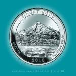 """Mt. Hood, Oregon_portrait coin_NP05"" by Quarterama"
