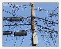 Utility Equipment Poles Wires A