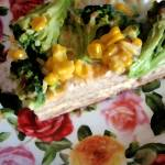 """Broccoli-Corn Casserole on a Bed of Roses"" by sondrasula"