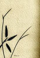Zen Sumi Antique Flower 4a Ink on Watercolor Paper