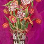 """""""Tip Toeing thru the Tulips, (Flamingos)"""" by AlmaLee"""