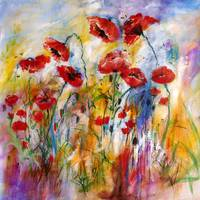 Poppies Provencale Encore Painting by Ginette