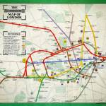 """1911 London underground map"" by victorianarchive"