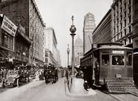 Market and Powell, Hayes Trolley-Sepia by WorldWide Archive