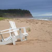 Souris Beach Chairs Art Prints & Posters by Bill Linn