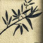 """Zen Sumi Antique Botanical 4a Black Ink on Waterco"" by Ricardos"