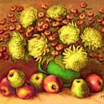 """AUTUMN FLOWERS AND FRUITS"" by interfaceart"