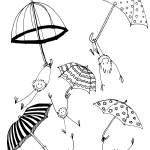 """Foozball floating umbrellas"" by Thankful"