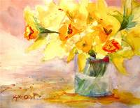 Daffodils in a Ball Jar