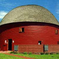 Route 66 - Round Barn Art Prints & Posters by Frank Romeo