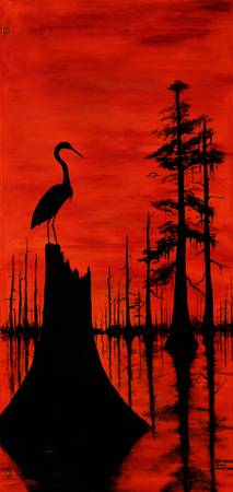 LOUISIANA RED SUNSET SWAMP