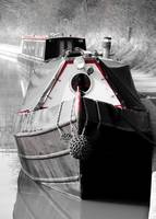 A Docked Canal Boat