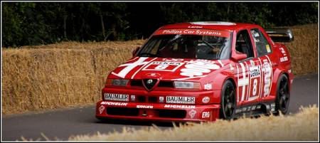 Nicola Larini Alfa Romeo 155 TS at Goodwood
