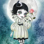 """Pierrette Under the Icy Moon"" by sandygrafik_arts"