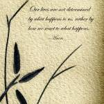 """Zen Sumi 4b Antique Motivational Flower Ink"" by Ricardos"