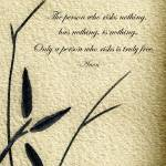 """Zen Sumi 4c Antique Motivational Flower Ink"" by Ricardos"