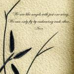 """Zen Sumi 4d Antique Motivational Flower Ink"" by Ricardos"