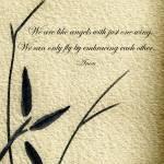 """Zen Sumi 4d Antique Motivational Flower Ink"" by Ricardos"