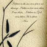 """Zen Sumi 4e Antique Motivational Flower Ink"" by Ricardos"