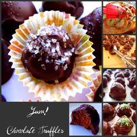 Chocolate Truffle Collage