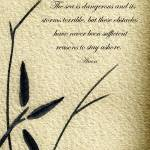 """Zen Sumi 4h Antique Motivational Flower Ink"" by Ricardos"