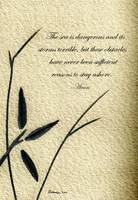 Zen Sumi 4h Antique Motivational Flower Ink