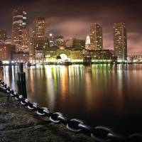 Boston at Night Art Prints & Posters by Eric Snyder