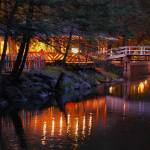 """Knoebels Footbridge Reflection"" by kjb"