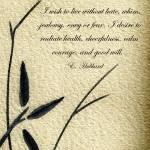 """Zen Sumi 4i Antique Motivational Flower Ink"" by Ricardos"