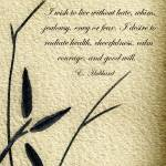 """Zen Sumi 4i Antique Motivational Flower Ink"" by Ricardos"