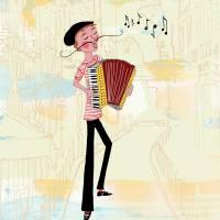 Accordion Melodies Art Prints & Posters by Sara Jane Franklin
