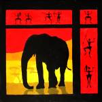 """sunset (elephant)"" by skaterine"