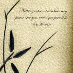 """Zen Sumi 4j Antique Motivational Flower Ink"" by Ricardos"
