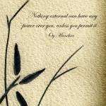 """Zen Sumi 4j Antique Motivational Flower Ink"" by Ricardos"
