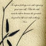 """Zen Sumi 4m Antique Motivational Flower Ink"" by Ricardos"
