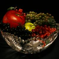 Light Painting Fruit Bowl Art Prints & Posters by Guy Wood