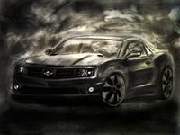 Chevrolet Camaro Realistic Drawing