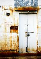 White and Rust Door