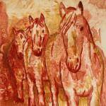 """Three Horses"" by rlhpainter"