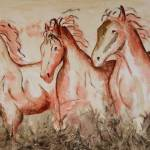 """""""Horses in the Sand"""" by rlhpainter"""