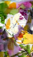 Abstract Spring Symphony Watercolor by Ginette