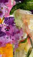 Lilac Abstract Modern Watercolor by