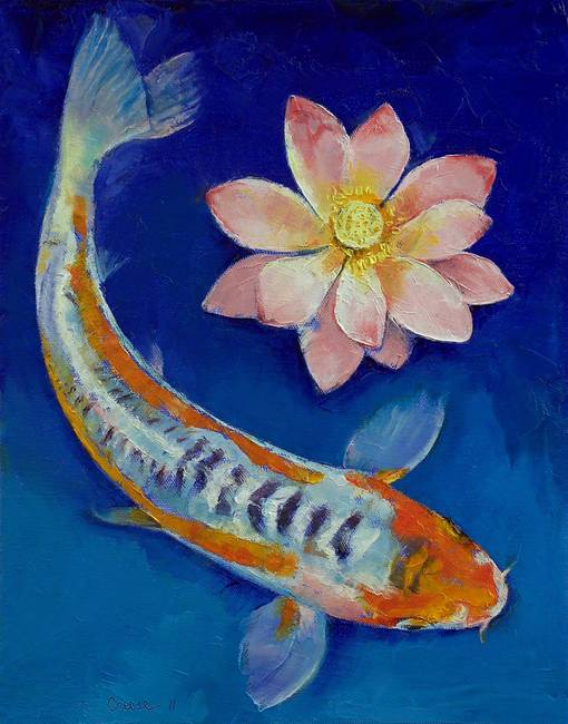Stunning koi fish artwork for sale on fine art prints for Koi fish artwork