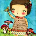 """20100806 Mushrooms And Butterflies"" by danitaart"