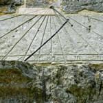 """Vertical Sundial on St George"