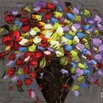 """""""Multicolor flowers bouquet"""" by modernhouseart"""